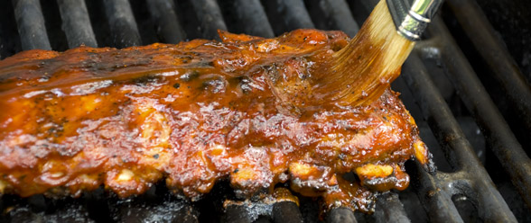 BBQ Pork Spareribs with Plum Sauce