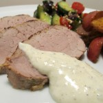 Grilled Pork Tenderloin with Greek Aioli