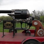 BBQ Smoker that looks like a huge revolver
