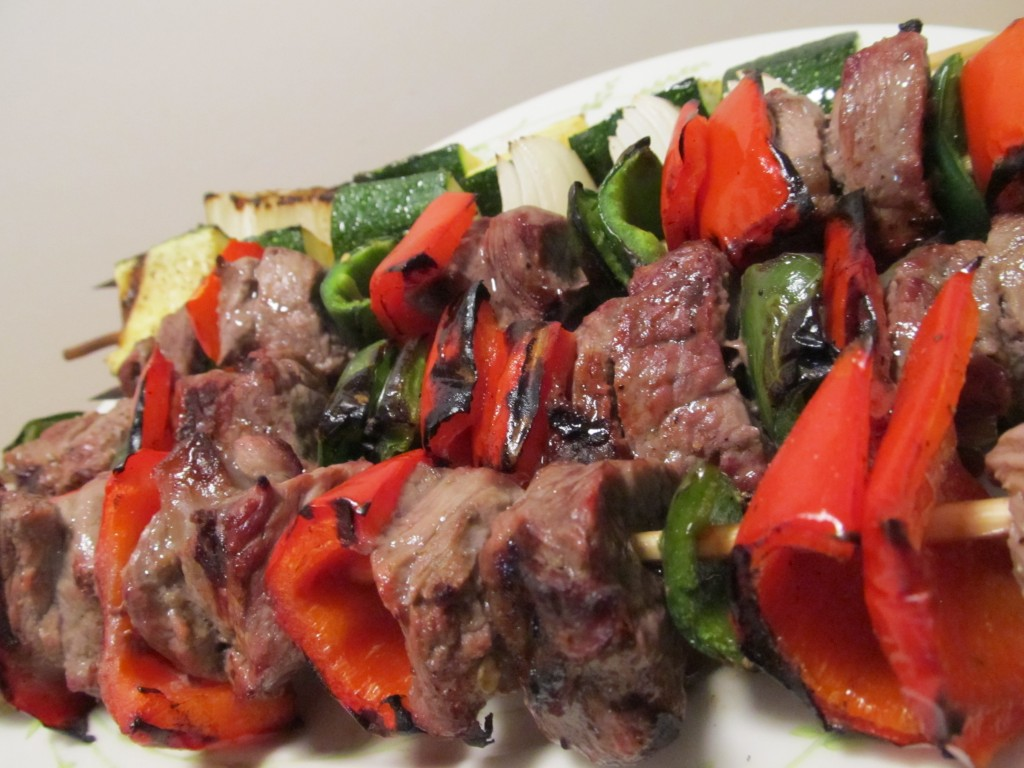 Jalapeno Beef Kabobs with Roasted Garlic Aioli