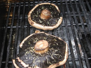 Grilled BBQ Portabello Mushrooms